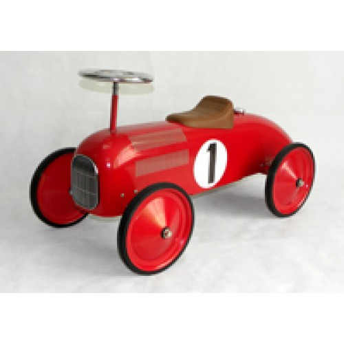 Scoot Along Racer Ride On Car in Red