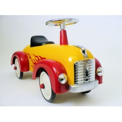 "Scoot Along Yellow Car With Flames ""BOGO"" Buy 1 Get 1"
