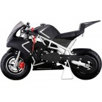 MotoTec Cali 40cc Gas Pocket Bike White