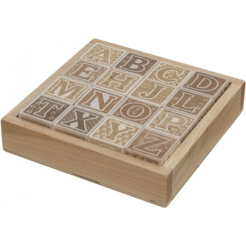ABC Blocks, Engraved, with Tray