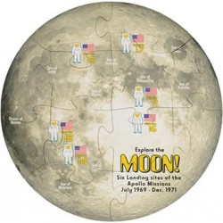 Shaped Jigsaw Puzzle, Moon
