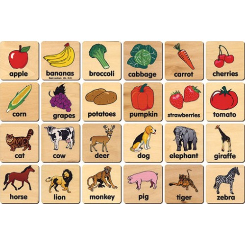 Teach+Play Tiles, Animal/Vegetable
